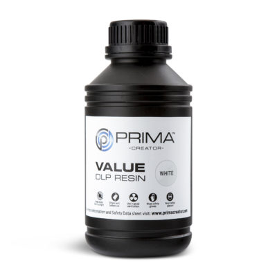 PrimaCreator Résine Value UV / DLP Blanc - 1 litre