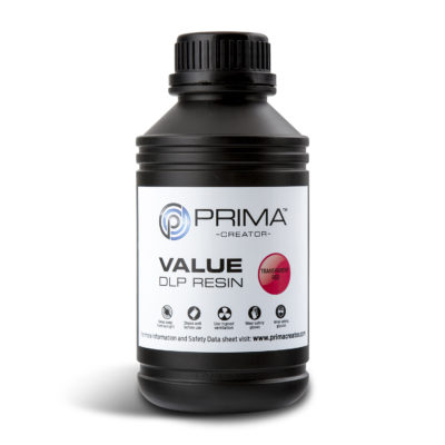 PrimaCreator Résine Value UV / DLP Rouge transparent